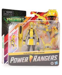 Power Rangers Beast Morphers Yellow Ranger & Morphin Jax Beastbot Action Figure Yellow - Height 15 cm