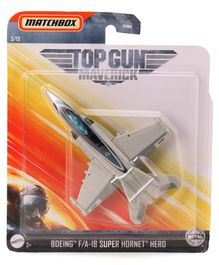 Matchbox Die Cast Free Wheel Dark Star Plane Toy - Grey