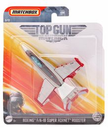 Matchbox Die Cast Super Hornet Rooster Toy Plane - Grey