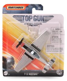 Matchbox Die Cast Free Wheel P 51 Mustang Plane Toy - Grey