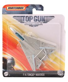 Matchbox Die Cast Free Wheel F14 Combat Plane - Grey