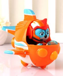 Top Wing Swift's Flash Wing Figure with Vehicle - Orange Blue