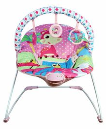 Mastela Soothing Vibrations Bouncer Deer Print - Pink