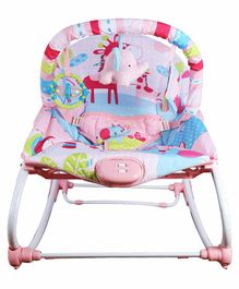 Mastela New Born to Toddler Rocker Bouncer Animal Print - Pink