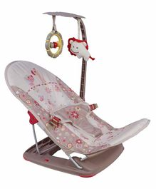 Mastela Fold up Infant Seat Rocker - Brown Pink