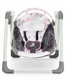 Mastela Deluxe Portable Musical Swing - Grey White