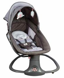 Mastela 3-in-1 Deluxe Multi-Functional Bassinet - Grey & Brown