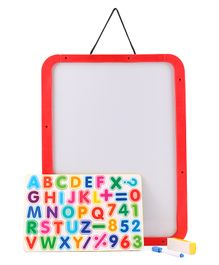 Doraemon 4 in 1 Magnetic Board With Marker & Duster -Red