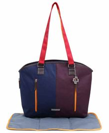 My Milestones Traveller Diaper Bag with Changing Mat - Navy Blue