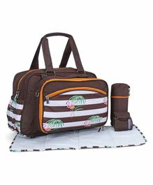 My Milestones Diaper Bag with Accessories - Brown
