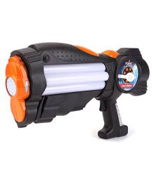 Simba Planet Fighter Power Blaster Gun - Black And Orange