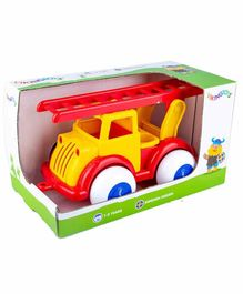 Viking Toys Free Wheel Fire Truck - Yellow Red