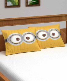 Athom Trendz Minions Pillow Cover Pack of 2 - Yellow