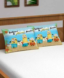 Athom Trendz Minions Pillow Cover Pack of 2 - Blue