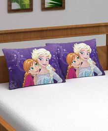 Athom Trendz Disney Frozen Pillow Cover Pack of 2 - Purple