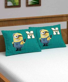 Athom Trendz Minions Pillow Cover Pack of 2 - Green