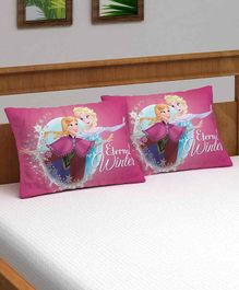 Athom Trendz Disney Frozen Pillow Cover Pack of 2 - Pink
