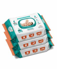 Buddsbuddy Based Skincare Wet Baby Wipes Pack of 3 - 80 Pieces Each