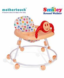 Mothertouch Smiely Round Walker With Toy Bar - White Cream