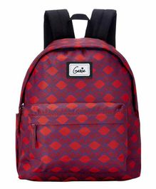 Genie Morocco Printed School Bag Red - 16 Inches