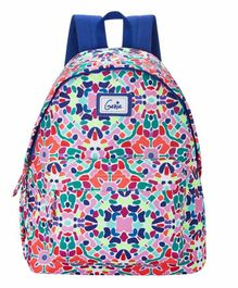 Genie Printed School Bag White Pink - 16 Inches