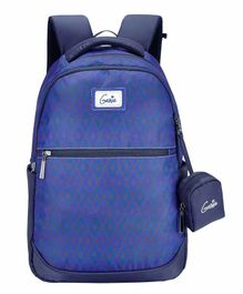 Genie School Bag with Pouch Blue - 18 Inches