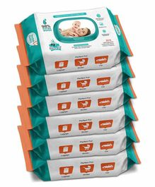 Buddsbuddy Wet Baby Wipes Pack of 6 - 80 Pieces Each