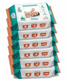 Buddsbuddy Wet Baby Wipes Pack of 6 - 72 Pieces Each