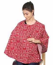 Grandma's Premium Printed Nursing Cover - Red