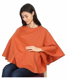 Grandma's Premium Nursing Cover Polka Dots - Orange