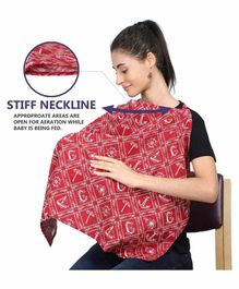 Grandma's Premium Nursing Feeding Cover with Adjustable Neckline - Red
