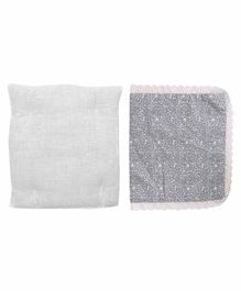 Grandma's Premium Finger Millet Pillow with 2 Pillow Covers - Grey