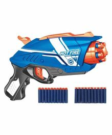 Yamama  Blaze Storm Soft Bullet Gun with 20 Foam Bullets & Suction Dart Bullets - Blue Orange