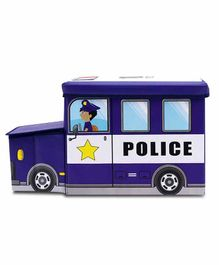 Muren Foldable Storage Box cum Stool Police Bus Design - Blue
