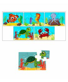 RK Cart Ocean Theme 5 Wooden Jigsaw Puzzle - 30 Pieces