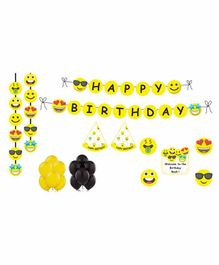 Untumble Smiley Theme Birthday Kit - Pack of 58