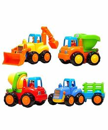 Tiny Mynee Automobile Car Toy Set of 4 - Multicolor