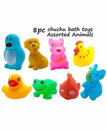 VWorld Animal Shaped Bath Toys Pack of 8 - Multicolor