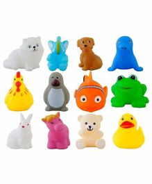 VWorld Animal Shaped Bath Toys Pack of 12 - Multicolor