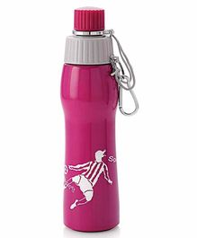 Viva h2o Stainless Steel Sipper Water Bottle Pink - 650 ml