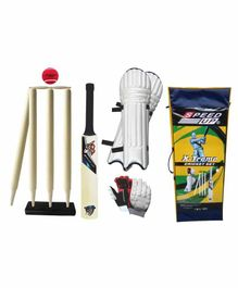 Speed Up X Treme Wooden Cricket Combo Set Size 4 - Multicolor
