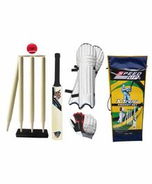 Speed Up X Treme Wooden Cricket Combo Set Size 6 - Multicolor