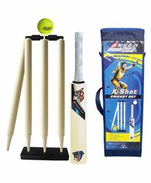 Speed Up X Shot Wooden Cricket Combo Set Size 1 - Blue