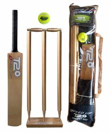 Speed Up T20 Wooden Cricket Combo Set Size 4 - Golden