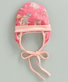Ben Benny Tie Knot Cap with Ear Flaps - Pink