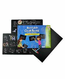 CocoMoco Kids Reusable Writing Board Cum Table Mats - Black