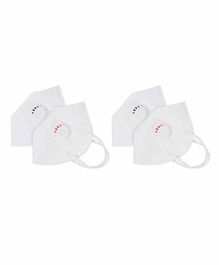 Yellow Bee KN95 Respirator Face Mask White - Pack of 4
