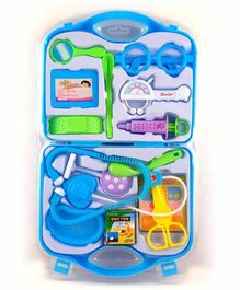 RLS Solutions Pretend Play Doctor Kit with Foldable Suitcase Blue - 15 Pieces
