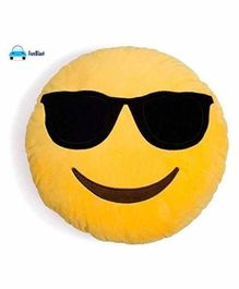FunBlast Plush Emoji Cushion - Yellow