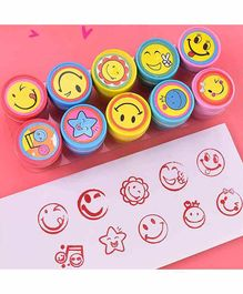 FunBlast Emoji Stamps Pack of 10 - Multicolor